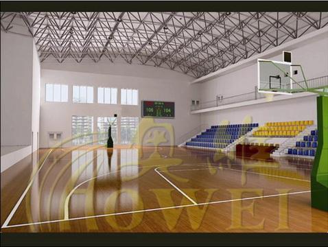8mmPVC运动地胶-室内球馆